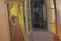 interior (diptych) by maria filopoulou