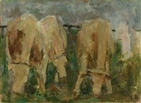 weidende kühe by carl roesch