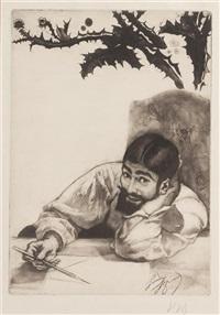 auto-portrait by louis auguste mathieu legrand