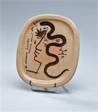 plat oval by jean cocteau