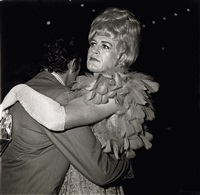 two men dancing at a drag ball, nyc by neil selkirk and diane arbus