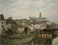 an old french town by oliver hall
