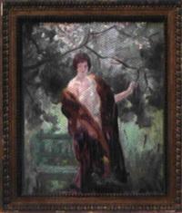 femme au jardin by alfred roll