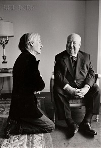 andy warhol and alfred hitchcock by jill krementz