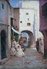 scène de rue alger by william lambrecht