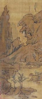 山居清兴图 by liang yuwei