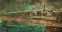 view of tiberias by albert goldman