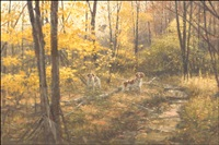 brittany spaniels and woodcock by robert kennedy abbett