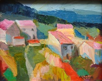 village aux toîts rouges by marie astoin