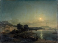golfe de naples au clair de lune by jean charles joseph remond
