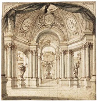 the colonnades of a temple by filippo juvara