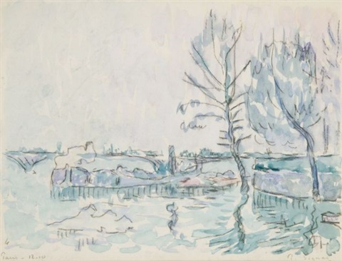 bords de seine décembre by paul signac