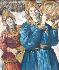 fête dans l'ancienne russie by leonard (leonid) viktorovich turzhansky
