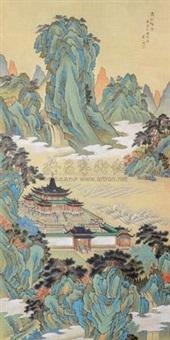 青山楼台图 by liu yiming