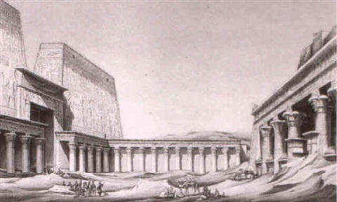 the temple of edfu and medinet habu thebes by johannes rabe