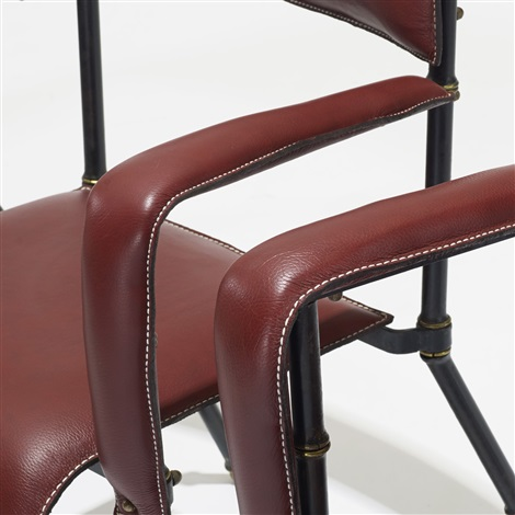 armchairs set of 6 by jacques adnet
