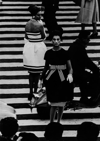 simone and nina, piazza di spagna, rome (vogue) and others (3 works) by william klein