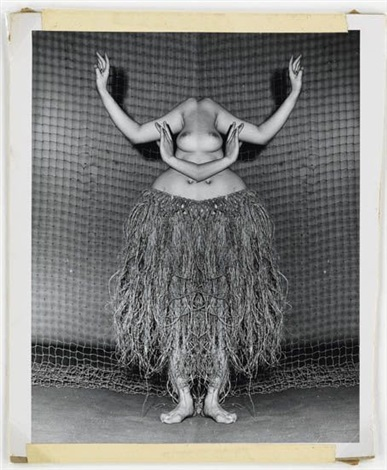 hula dancer distortion by weegee