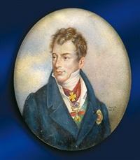 porträt des fürsten clemens wenzel lothar metternich mit ordensschmuck by johann anton völser