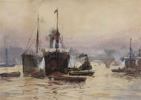 boating on the river thames london by frederick william scarborough