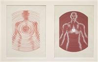 sans titre, travail publicitaire (2 works) by victor vasarely