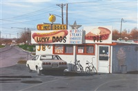 hot dogs pies by john baeder
