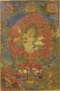 tangka de mahakala by anonymous-tibetan (18)