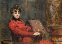 portrait of adrienne llorca by fanny laurent fleury