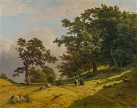 landschaft mit figurenstaffage by joseph feid