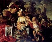 eine allegorie der armut und des reichtums (?) by pieter lastman
