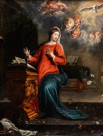 verkündigung an maria by willem van herp the elder