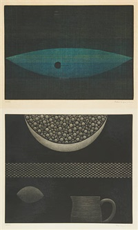 essai (nature morte) (2 works) by yozo hamaguchi
