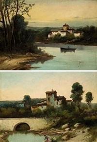 vistas del rio (pair) by jose maria jardines
