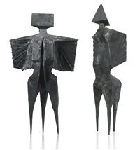 two winged figures ii by lynn chadwick