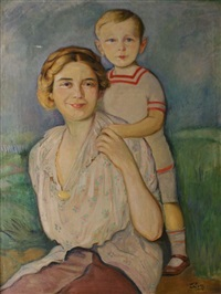 mother and child by wilhelm wachtel