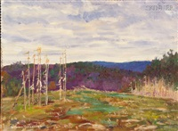 landscape (+ another; 2 works) by william f. heffernan