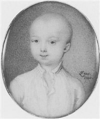 a young boy, possibly a member of the artist's family, in white shirt by peter paul lens