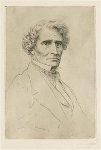 portrait of hector berlioz by alphonse legros