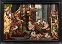 esther devant assureus by master of the prodigal son