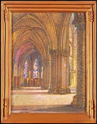 the ambulatory of bourges cathedral by pierre gaston rigaud