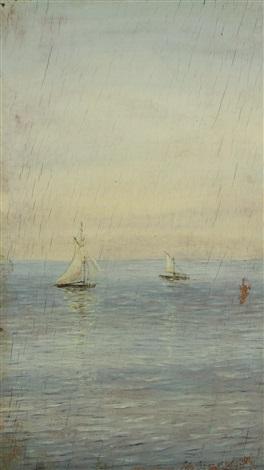 sailboats at sea by nikolai nikanorovich dubovskoy