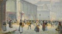 les halles, paris by léon jules lemaitre