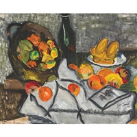 still life of fruit on a table by jori smith
