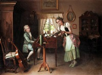 the music lesson by valdemar kornerup
