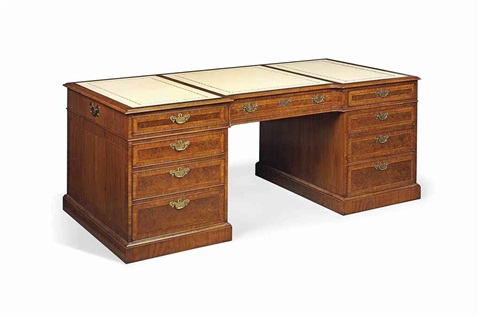 partners pedestal desk by arthur brett