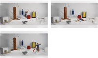 test room containing multiple stimuli known to elicit curiosity and manipulatory responses (blonde bandura action) (set of 3) by mike kelley