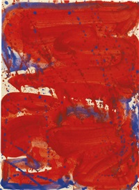 red with blue by sam francis