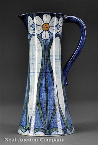 pitcher decorated by ada wilt lonnegan by newcomb college pottery
