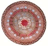 an art deco round carpet by paule leleu