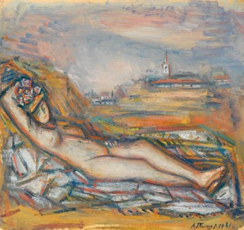 female nude by aleksandr grigorevich tyshler